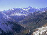 View to the Grimsel Pass from West of the Furka Pass, Valais (Wallis), Swiss Alps, Switzerland