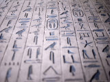 Hieroglyphics in the Interior of the Pyramid of Unas, Sakkara (Saqqarah), Egypt, Africa