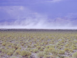 Salt Flats, Nevada, USA, Dust Storm