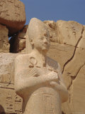 Statue of Middle Kingdom Pharoah, Karnak Temple, Luxor, Egypt