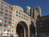 Rowes Wharf by Boston Harbor, Boston, Massachusetts, USA