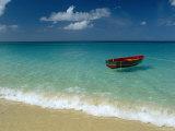 Moored Boat, Grand Anse Beach, Grenada, Caribbean