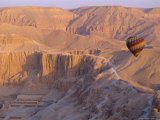Hot Air Balloon, Temple of Hatshepsut, Valley of the Kings, Luxor, West Bank, Egypt