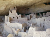 Cliff Palace Ruins Dating from 1200-1300 Ad Shaded in Limestone Overhang, Mesa Verde, Colorado, USA