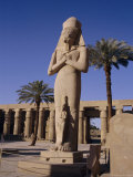 Statue of Amun, with Ramses II (Ramasses the Great) Between His Knees, Karnak, Thebes, Egypt