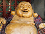 Laughing Buddha, Tanzhe Temple, Beijing, China, Asia Photographic Print