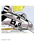 Whaam! (panel 1 of 2) Art Print