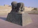 Statue of a Lion Overpowering a Man, Archaeological Site of Babylon, Iraq, Middle East