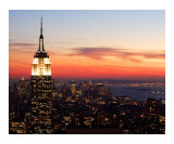 New York Sunset - Aerial View Photographic Print