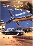 Fly the Rolls Royce way to London, 1953 Art Print