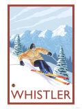 Downhhill Snow Skier, Whistler, BC Canada Art Print
