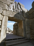 Lion Gate, Mycenae, Peloponnese, Greece, Europe