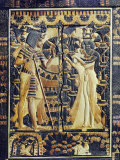 Ivory Plaque from the Lid of Coffer, Tutankhamun and Ankhesenamun in Garden, Egypt, North Africa