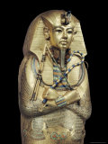 Mummiform Coffin of Gold with Inlaid Semi-Precious Stones and Glass-Paste, Thebes, Egypt