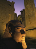 Statue of the Pharaoh Ramses II at Entrance to the Temple of Luxor, Thebes, Egypt, North Africa