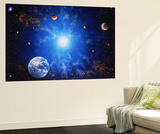 Buy Illustration of Earth and Glowing Star at AllPosters.com