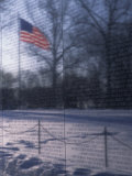 American Flag Reflected in the Vietnam Memorial, Washington, D.C.