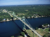 Aerial View of the Thousand Island Bridge and the Saint Lawrence River in New York