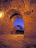 East Gate of the Crusader Fortress at Sunset in Ceasarea, Israel