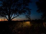 Farm near Princeton, Nebraska at Night