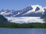Mendenhall Lake, Mendenhall Towers, Glacier and Mount Wrather, Alaska