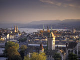 View of Zurich, Switzerland from Hotel Zurich