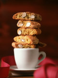 Cantucci Biscuits Piled on a Coffee Cup