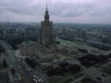 Warsaw's Palace of Culture and Surrounding Cityscape, Poland