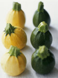Small, Round, Yellow and Green Courgettes