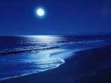 Full Moon Over the Sea Photographic Print