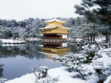 Kinkakuji Temple in Snow
