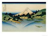 36 Views of Mount Fuji, no. 35: Reflected in Lake Kawaguchi, Seen from the Misaka Pass, Kai Provinc