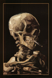 Skull With Cigarette, 1885 Poster