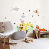 Cartoon Animals Wall Decal
