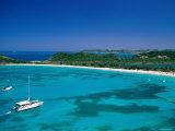 Deep Bay, Beach and Yachts, Blue Water, Antigua, Caribbean Islands