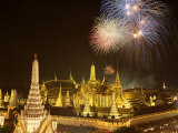 Grand Palace, Fireworks, Night View, Bangkok, Thailand