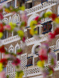 Frontage of Buildings and Floral Decorations, Sana'a, Yemen