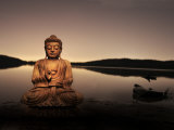 Golden Buddha Lakeside Photographic Print