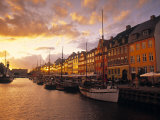 Nyhavn Harbour, Copenhagen, Denmark Photographic Print