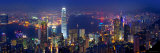 Victoria Harbour and Skyline from the Peak, Hong Kong, China Photographic Print