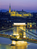 Chain Bridge and Danube River, Budapest, Hungary
