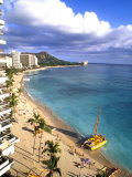 Waikiki Beach with Diamond Head, Honolulu, Oahu, Hawaii