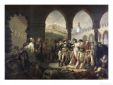 Napoleon Bonaparte Visiting the Plague Strickenat Jaffa