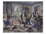Betsy Ross Shows Washington the Stars and Stripes Giclee Print