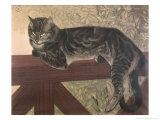 Buy Cat on Balustrade at AllPosters.com