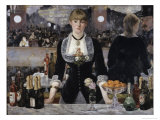 Bar at the Folies, Bergeres Giclee Print