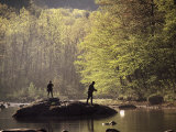 Father and Son Fly-Fishing, Deerfield River, MA