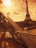 France, Paris, Eiffel and Passerelle