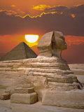 Buy Sphinx and Pyramid at Sunset at AllPosters.com