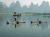 Fishermen on Bamboo Rafts, China
